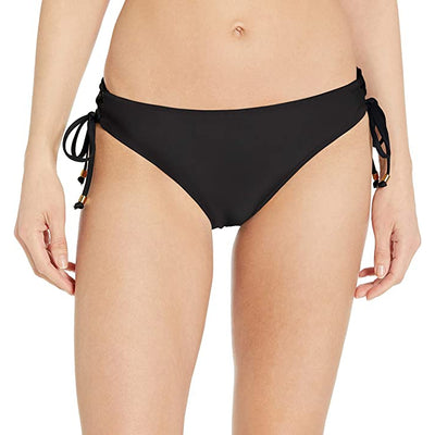 Essential Solids Lace Up Bikini Bottom
