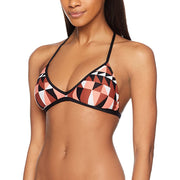 Jagged Geo Action Back Triangle Bikini Top