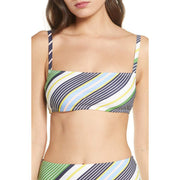 Field Day Stripe Square Bikini Top