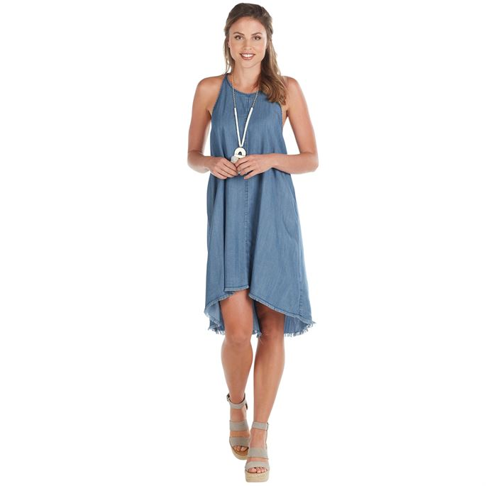 BLUE RYAN SWING DRESS