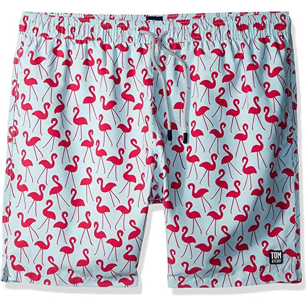 Men's Flamingo Swim Trunks