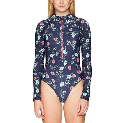 Riviera Floral Long Sleeve One Piece