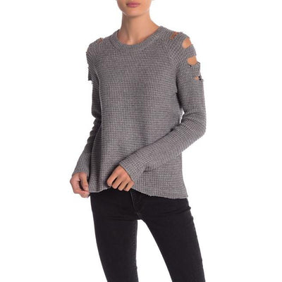 Cutout Sleeve Sweater