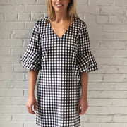 Gingham Bell Sleeve Dress