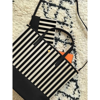 Black Stripe Tribeca Tote