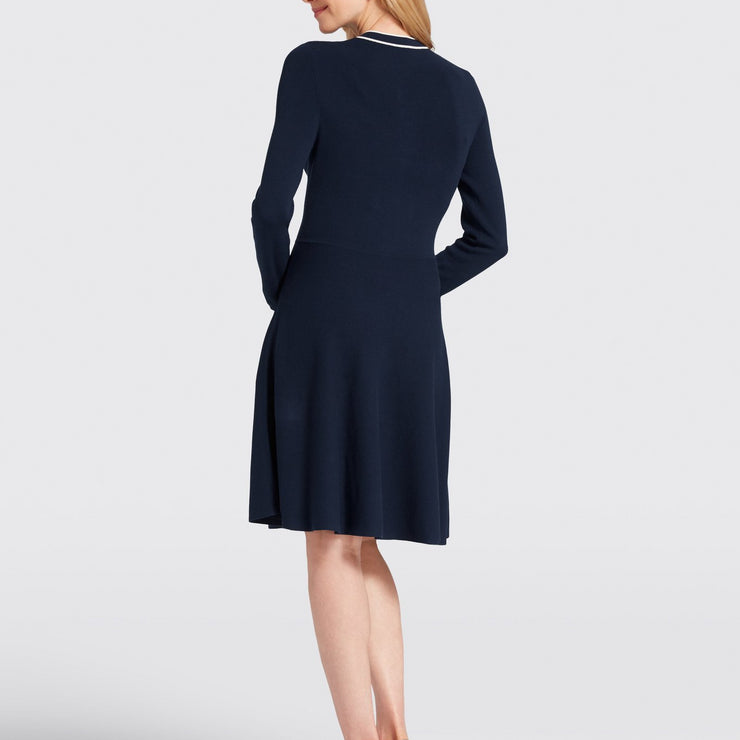 Sailor Bow Sweater Dress