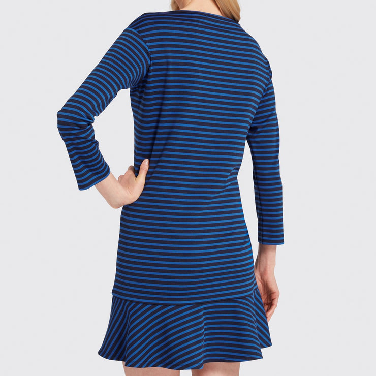 Stripe Tulip Long Sleeve Dress