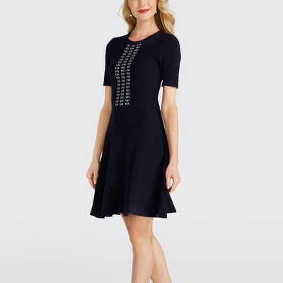 Arrow Rib Knit Dress