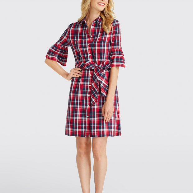 Boyfriend Plaid Shirtdress