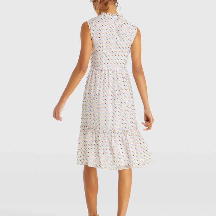 Swiss Dot Tiered Dress