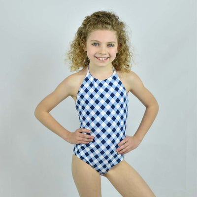 Girls High Neck One-Piece