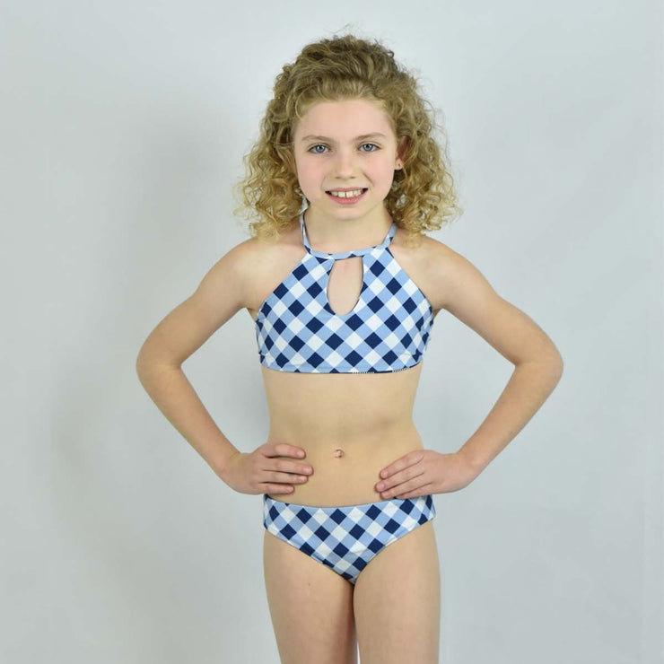Girls Reversible High Neck Bikini Set