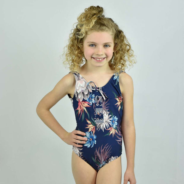 Girls Lace Up One Piece