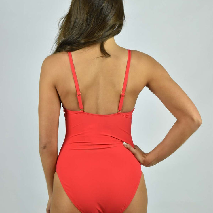 Solid Knotted One-Piece