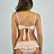 Gingham Skirted Bikini Bottom