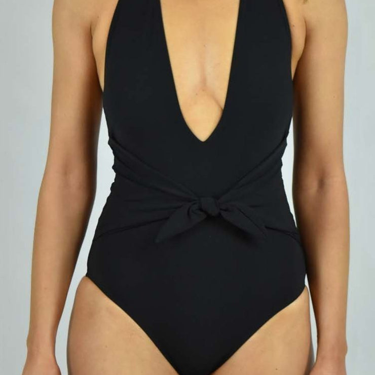 Solid Tie One Piece