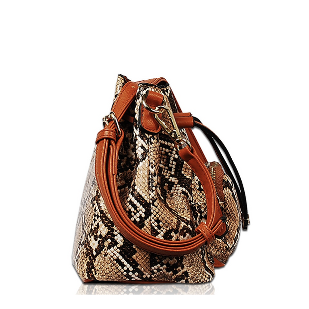 Animal Print Bucket Bag