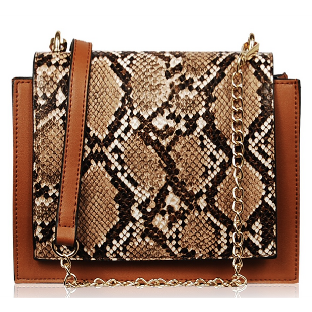 Flapover Animal Print Crossbody