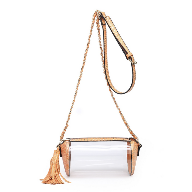 Game Day Clear Cylinder Crossbody Bag