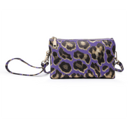 Metallic Leopard Monogrammable 3 Compartment Wristlet Crossbody