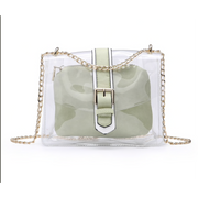 Two in One Clear Crossbody w/ Adjustable Chain Strap