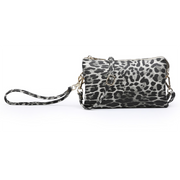 Leopard Monogrammable 3 Compartment Wristlet Crossbody