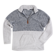 Two Tone Half Zip Sherpa Pullover