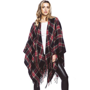 Plaid Ruana
