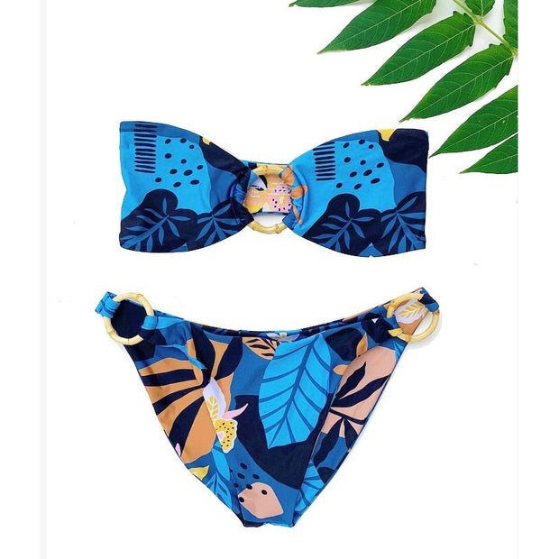 Jungle Iris Luna Bikini Bottom