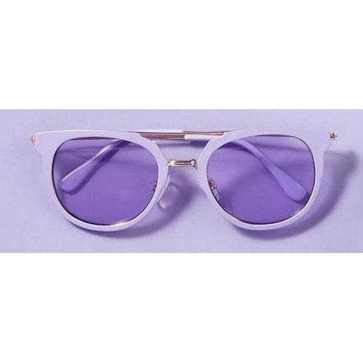 Lilac Gold Sunglasses with Pouch