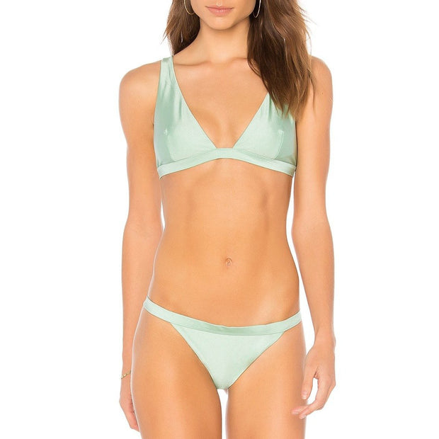 MINKPINK Sage High Apex Bikini Top