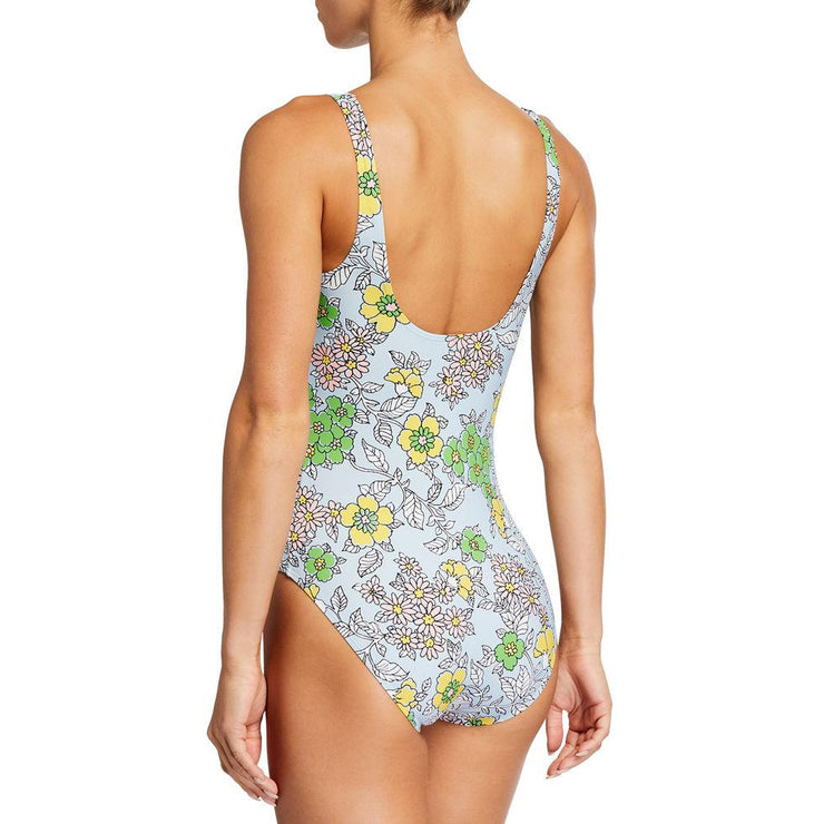 Wallpaper Floral Printed Tank One Piece