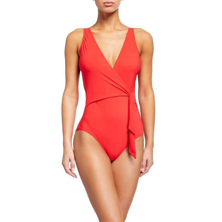 Solid Side Tie One Piece