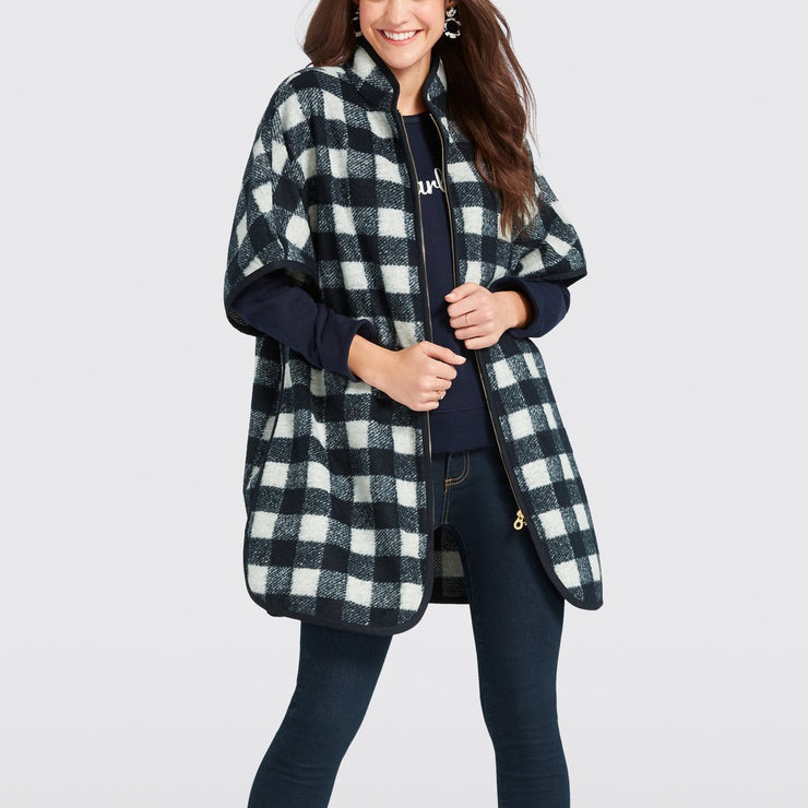 Buffalo Check Cape Coat