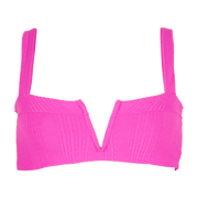 Pointelle Ribbed Lee Lee Bikini Top