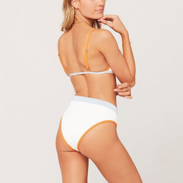 Color Block Ribbed Frenchi Bikini Bottom