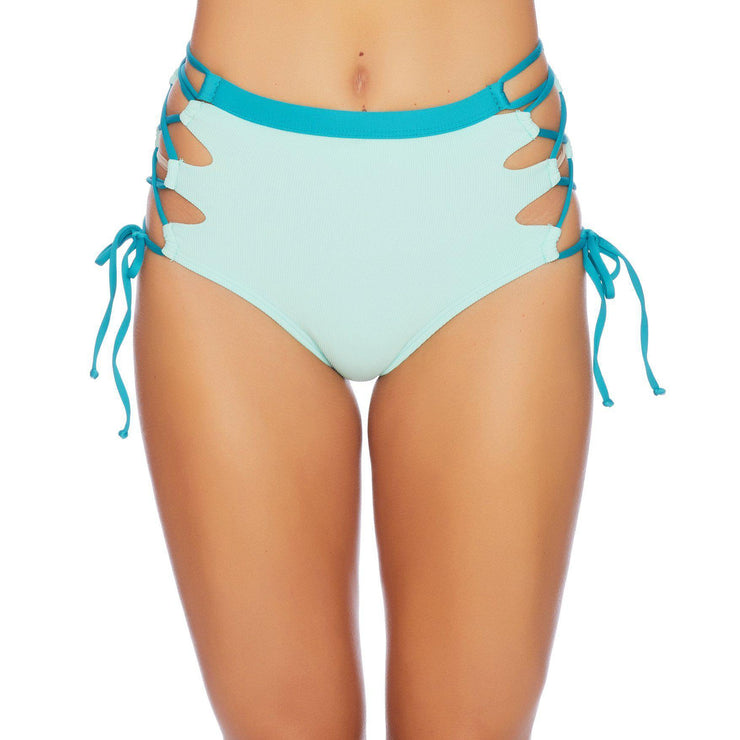 Color Blocked High Waist Bikini Bottom