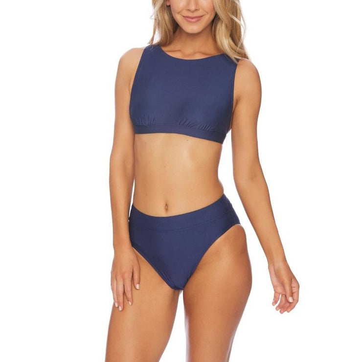 Solid Coordinator High Neck Bikini Top