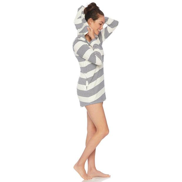 Fresh Prints Hoodie Tunic Cover Up