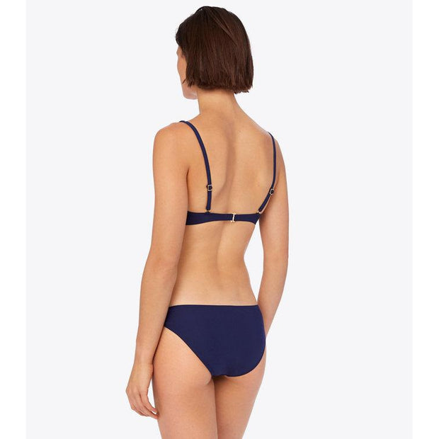 Solid Knotted Hipster Bikini Bottom