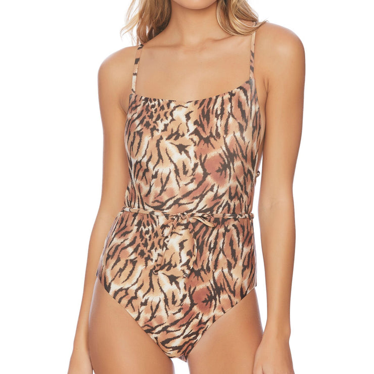 Tigers Eye Belted One Piece