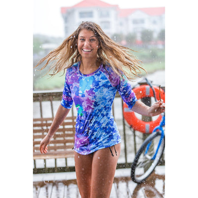On the Mediterranean Rashguard Top UPF 50+