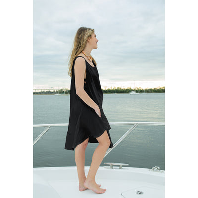 Jet (Away) Black - Decked Out Dress