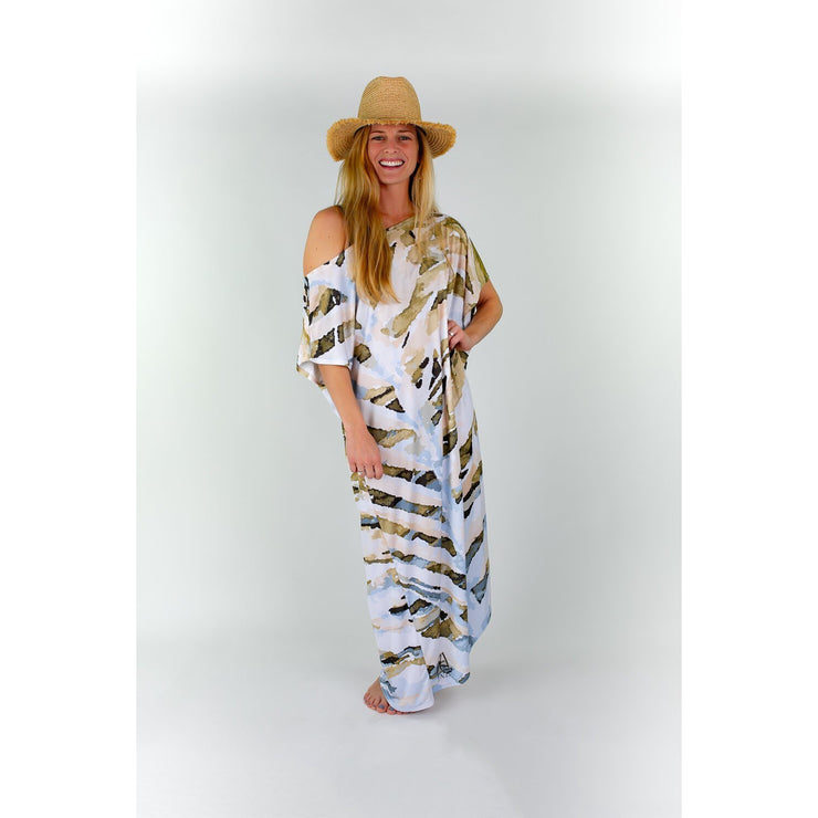 Natural Neutrals Maxi Coastal Caftan