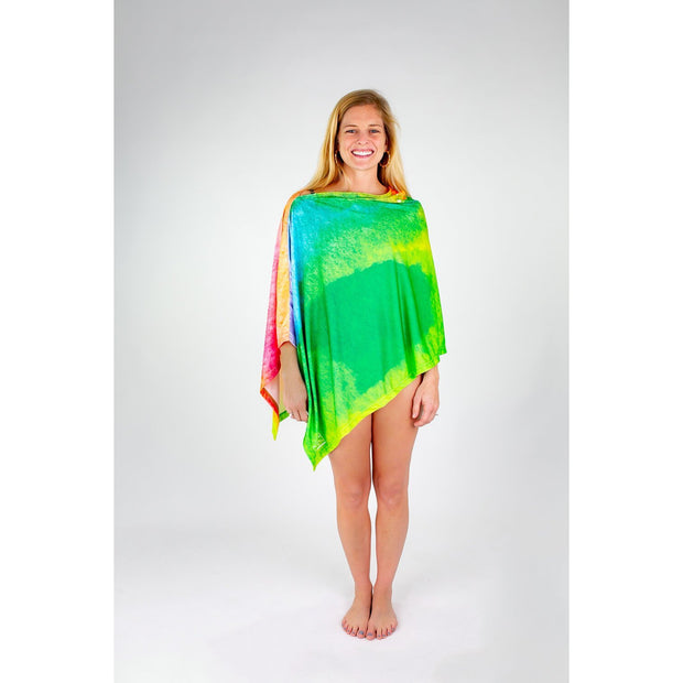 Watercolor Perfection Poncho