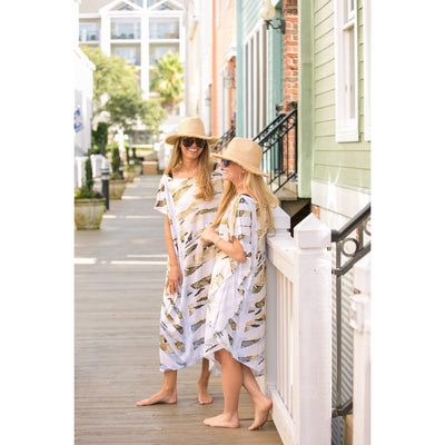 Natural Neutrals Mini Coastal Caftan