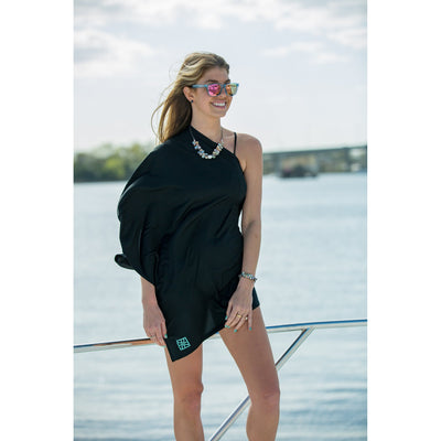 Jet (Away) Black Poncho