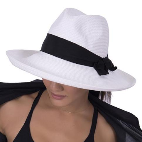 White with Black Bow Adriana Physician Endorsed Hat