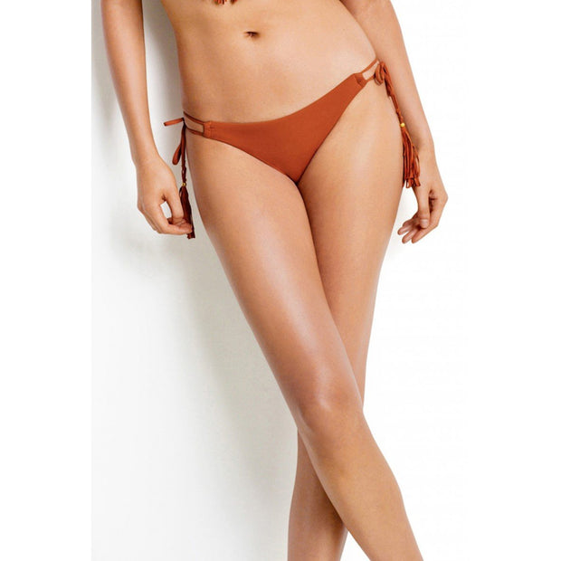 Coastal Fringe Tie Side Brazilian Bikini Bottom