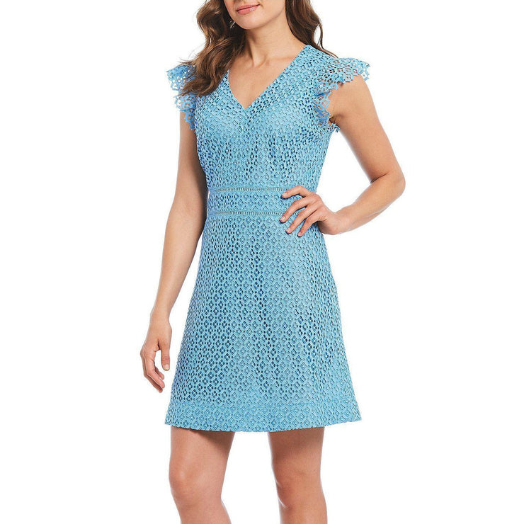 Gingham Lattice Sleeveless Dress